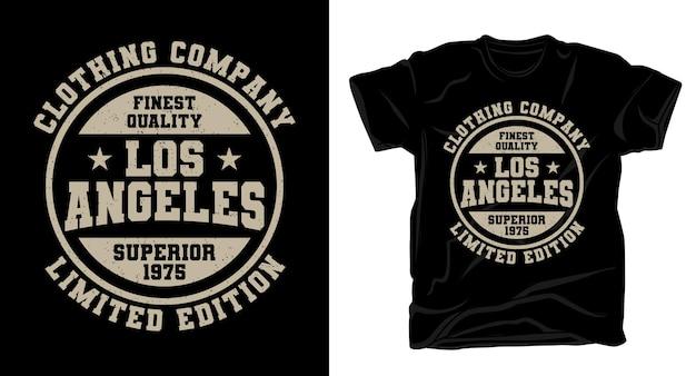 Projekt koszulki typograficznej firmy los angeles