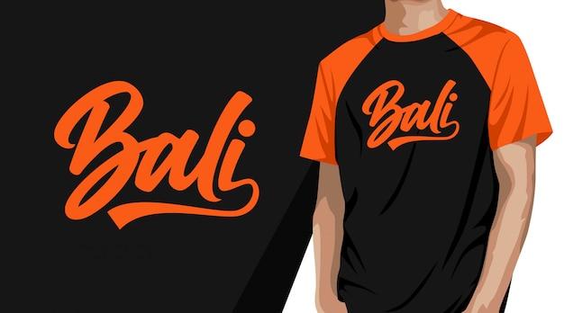 Projekt koszulki typografii bali