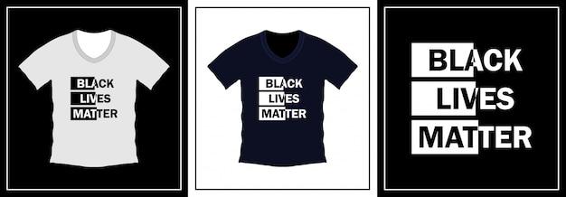 Projekt koszulki typografii czarny żyje materia. szablon ilustracji