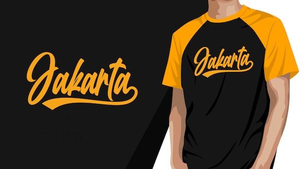 Projekt koszulki typografii dżakarty