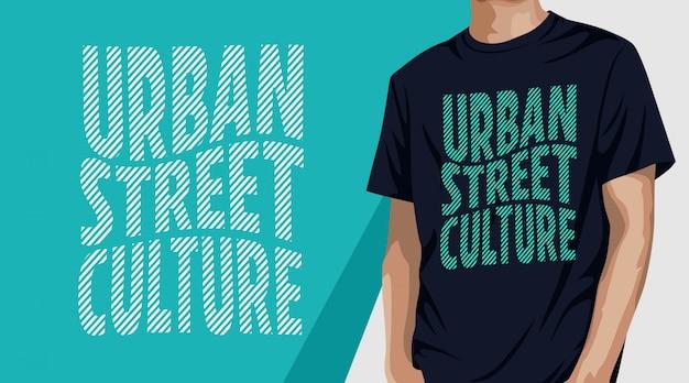 Projekt koszulki typografii miejskiej kultury ulicznej