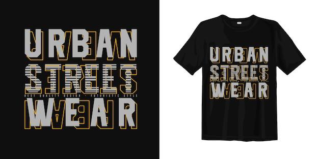 Projekt koszulki typografii miejskiej odzieży ulicznej