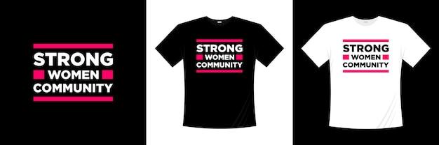 Projekt koszulki typografii silnej kobiety