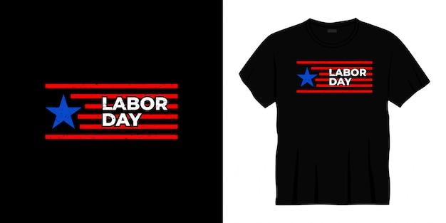 Projekt koszulki typografii święta pracy