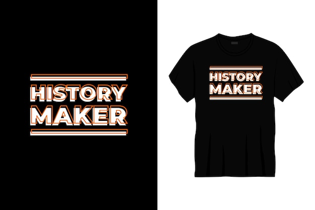 Projekt koszulki typografii twórcy historii