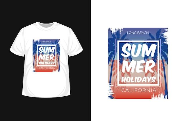 Projekt koszulki typografii w okresie letnim