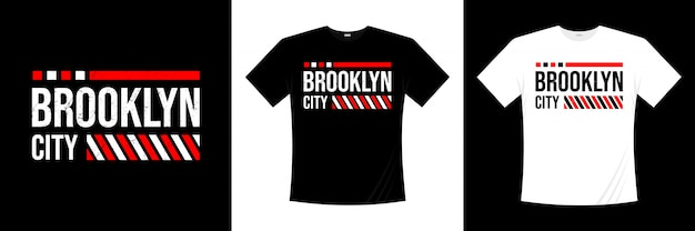Projekt koszulki typografii z miasta brooklyn