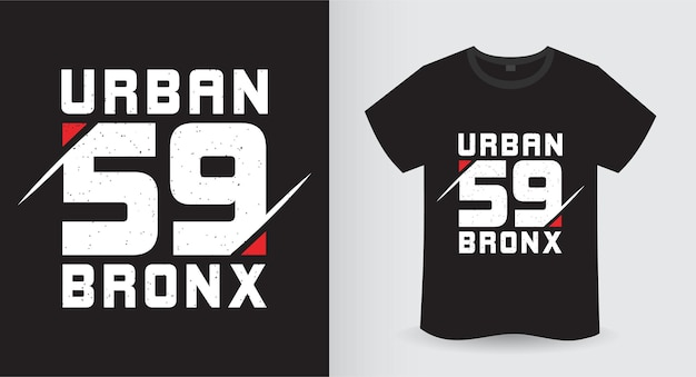 Projekt koszulki urban pięćdziesiąt dziewięć bronx