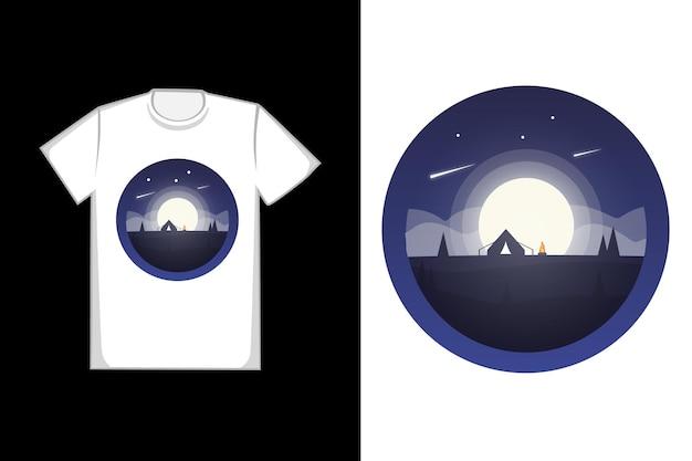 Projekt koszulki w pełni księżyca