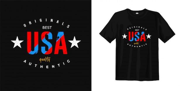 Projekt koszulki w stany zjednoczone ameryki, usa