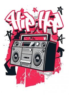 Projekt koszulki w stylu hip-hopu
