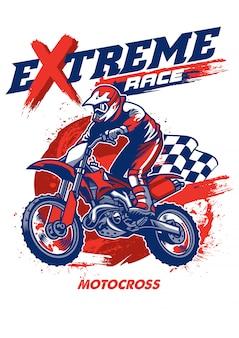 Projekt koszulki wyścigowej motocross