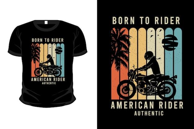 Projekt koszulki z autentyczną sylwetką amerykańskiego jeźdźca