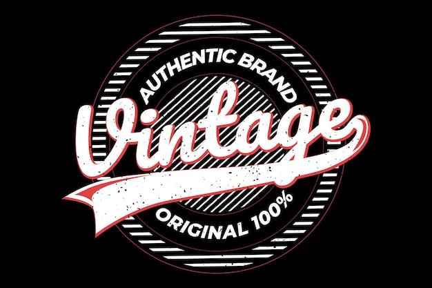 Projekt koszulki z autentycznym oryginalnym oryginalnym marką w stylu retro