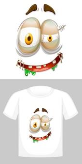 Projekt koszulki z grafiką z przodu