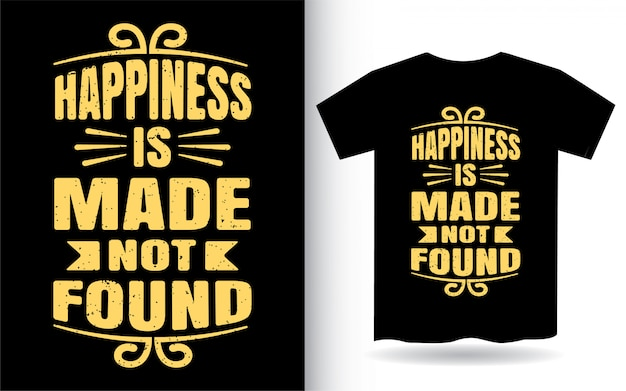 Projekt koszulki z motywacyjną typografią