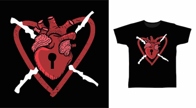 Projekt koszulki z motywem miłości serca!