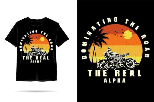Projekt koszulki z prawdziwą sylwetką alfa