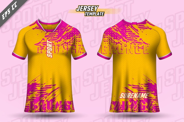 Projekt koszulki z przodu z tyłu sportowy design do wyścigów kolarskich wektor koszulki do gier