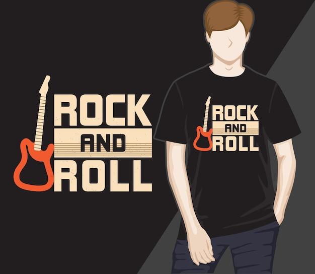 Projekt koszulki z typografią rock and rolla