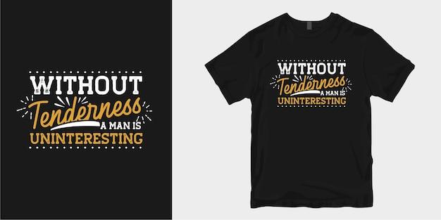 Projekt koszulki życzliwość cytuje slogan typograficzny. motywacyjne inspirujące słowa
