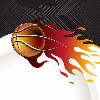 Projekt koszykówki w tle