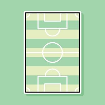 Projekt kreskówki boisko do piłki nożnej