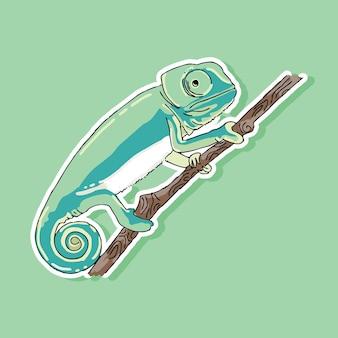 Projekt kreskówki kameleon
