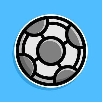 Projekt kreskówki piłki nożnej