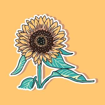 Projekt kreskówki słonecznika