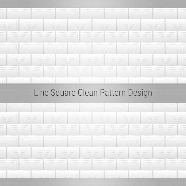 Projekt linii kwadratowej z czystym wzorem