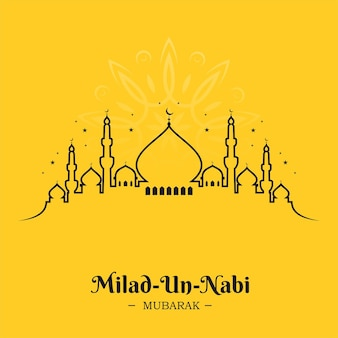 Projekt linii meczetu dla milad un nabi