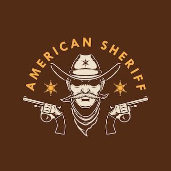 Projekt logo amerykańskiego szeryfa