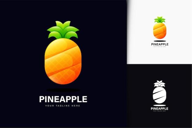 Projekt logo ananasa z gradientem