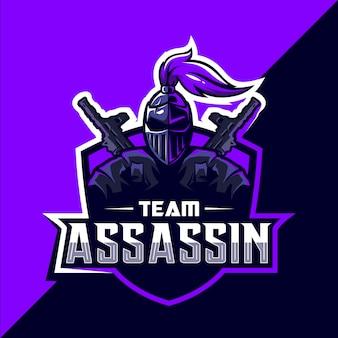 Projekt logo assassin esport