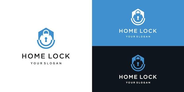 Projekt logo bezpieczeństwa domu i blokady