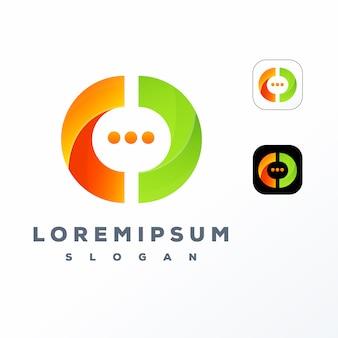 Projekt logo chat i letter o gotowy do użycia
