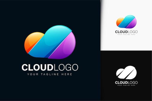 Projekt logo chmury z gradientem
