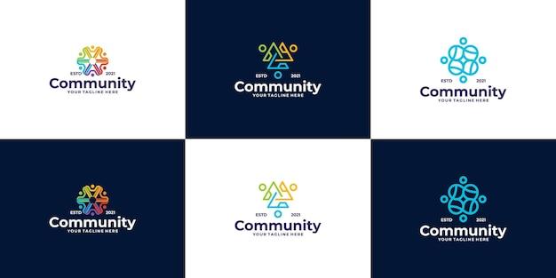 Projekt logo dla osób i społeczności dla zespołów lub grup
