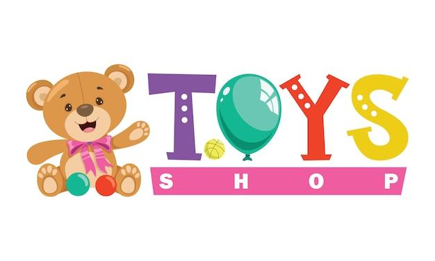 Projekt logo dla zabawek dla dzieci