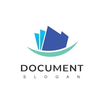 Projekt logo dokumentu wektor