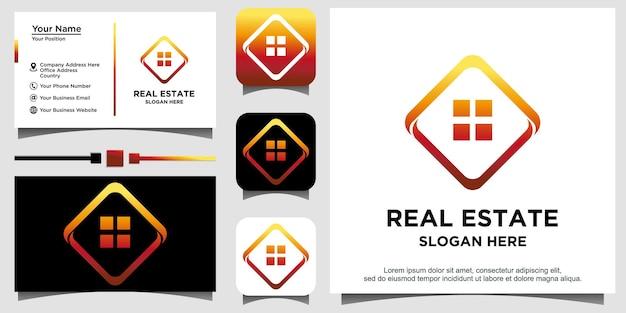 Projekt logo domu domu nieruchomości wektor
