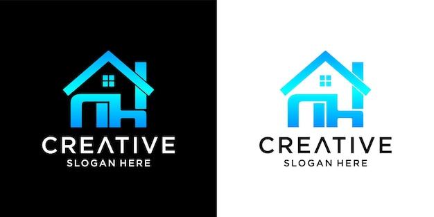 Projekt logo domu nh