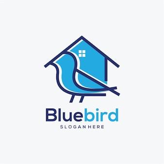 Projekt logo domu ptaka