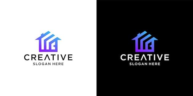 Projekt logo domu z literą wb
