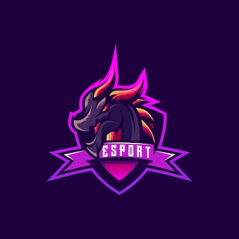 Projekt logo dragon dla graczy