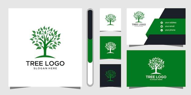 Projekt logo drzewa i wizytówki.