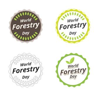 Projekt logo dzień leśnictwa. 21 marca