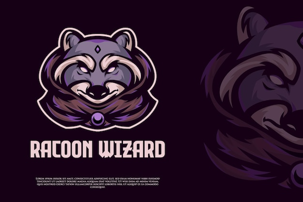 Projekt logo e-sportowego kreatora racoon
