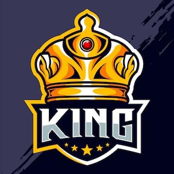 Projekt logo e-sportowego króla korony